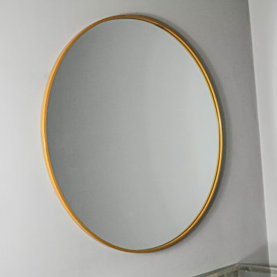 Manhattan Medium Gold Round Mirror_2