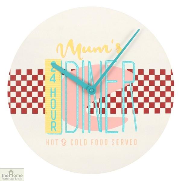 24 Hour Mum's Diner Wall Clock