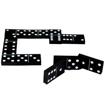 Jumbo Black and White Dominoes_4