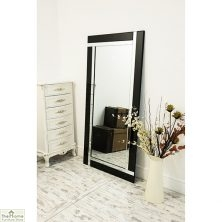 Black All Glass Mirror 174 x 85