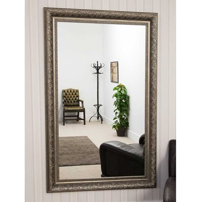Large Antique Silver Mirror_1
