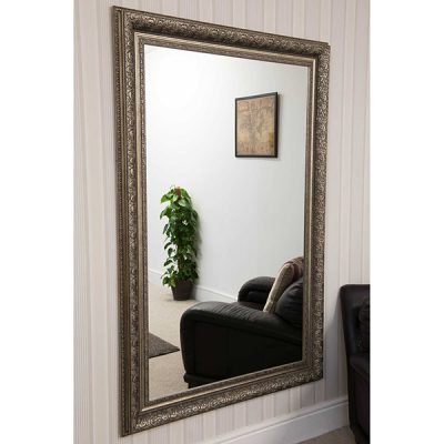 Large Antique Silver Mirror_2