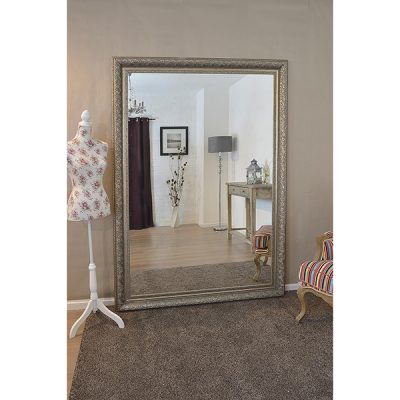 Extra Large Antique Silver Mirror_1