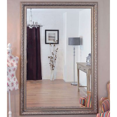 Extra Large Antique Silver Mirror_3