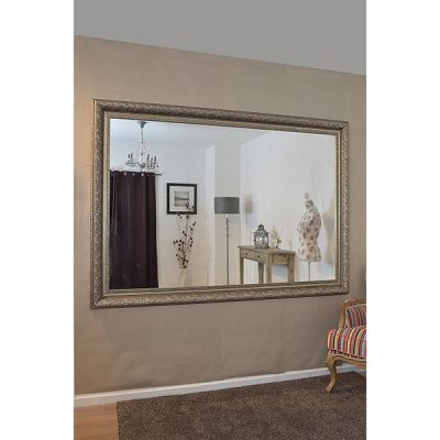 Extra Large Antique Silver Mirror_2