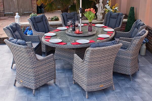Corfu Woodash 210cm Oval Dining Set
