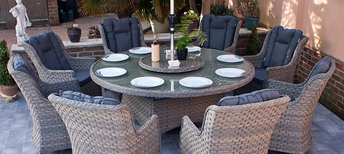 Corfu Woodash Dining Set