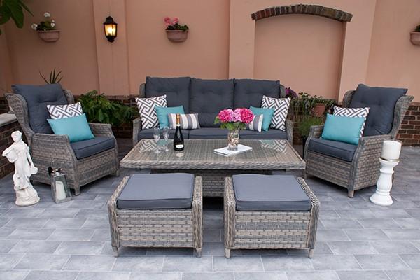 Corfu Woodash Reclining Sofa Set