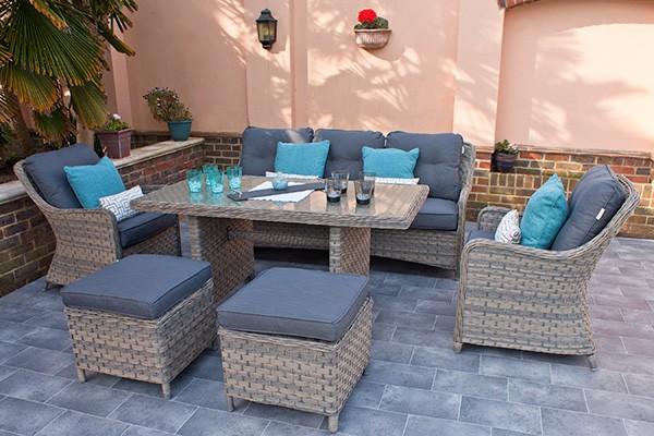 Corfu Woodash Rectangular Dining Set