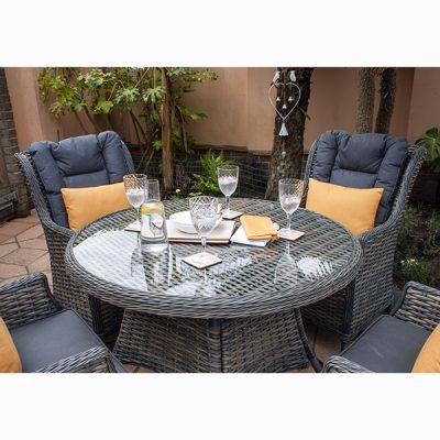 Casamoré Miami 4 Seater Round Dining Set_3