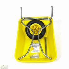 85Ltr Plastic Wheelbarrow Yellow
