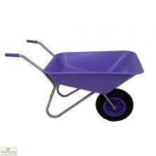 85Ltr Plastic Wheelbarrow Purple