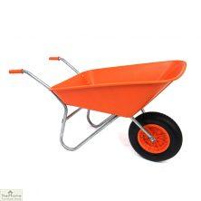 85Ltr Plastic Wheelbarrow Orange