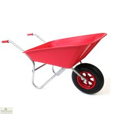 85Ltr Plastic Wheelbarrow Red
